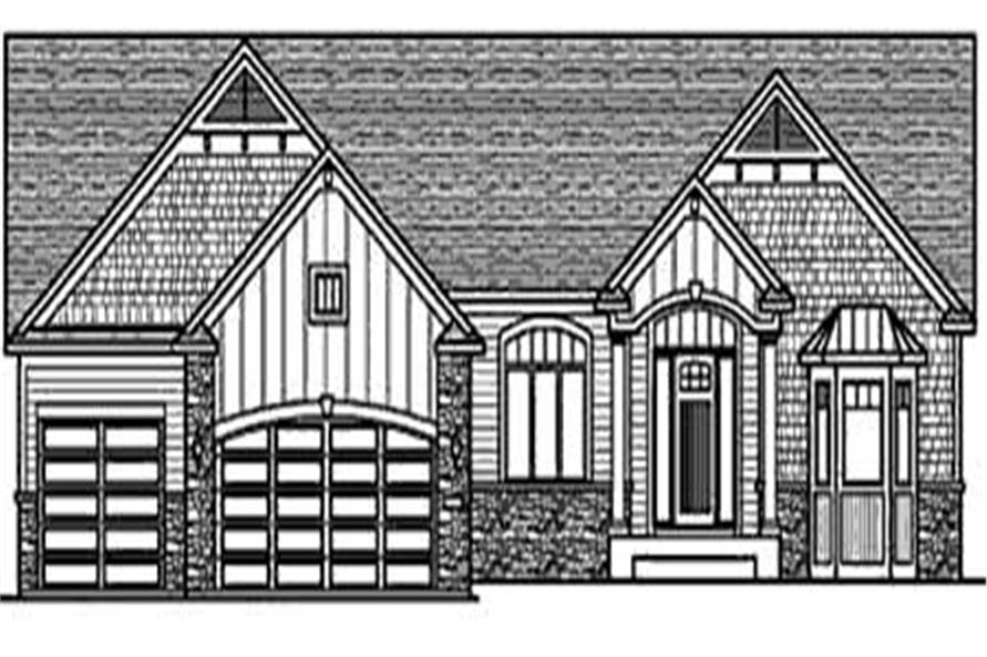 Home Plan Front Elevation of this 3-Bedroom,2030 Sq Ft Plan -146-2812