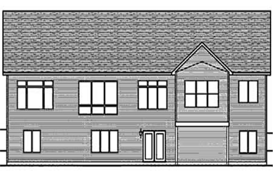Home Plan Rear Elevation of this 3-Bedroom,2030 Sq Ft Plan -146-2812