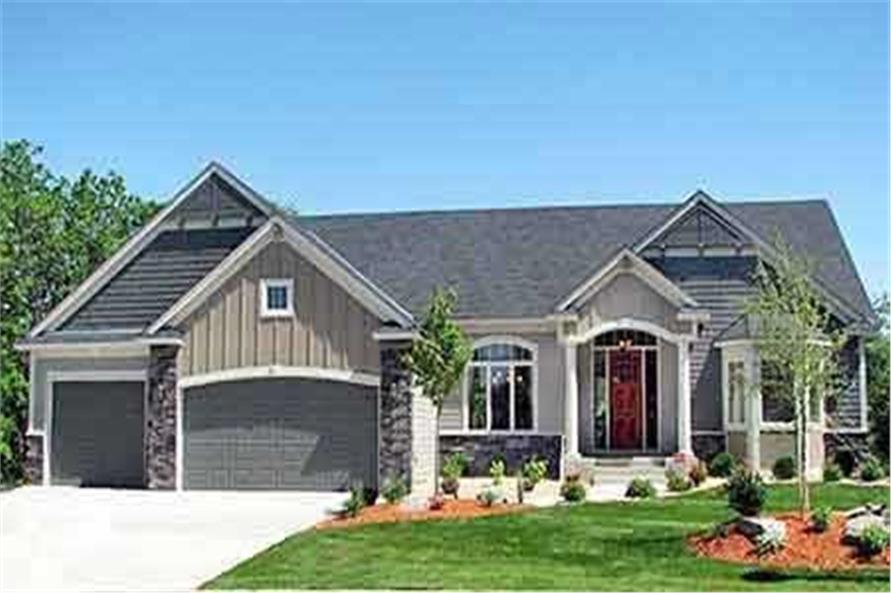 3-Bedroom, 2030 Sq Ft Country House Plan - 146-2812 - Front Exterior