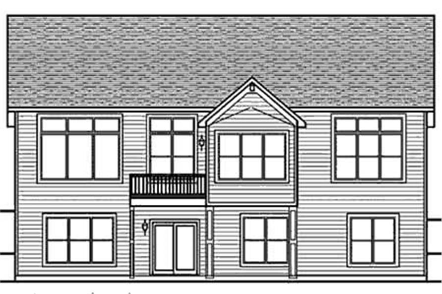 Home Plan Rear Elevation of this 2-Bedroom,1808 Sq Ft Plan -146-2814