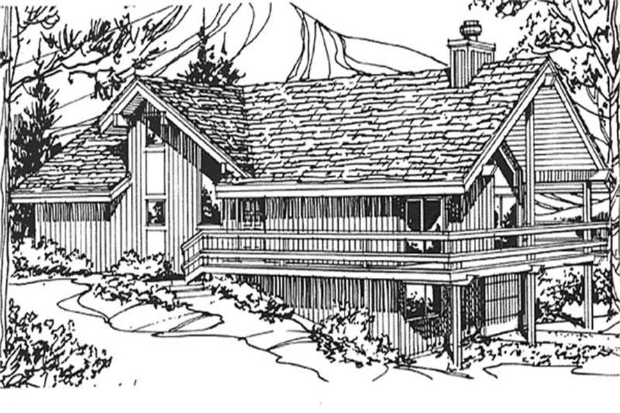 Front Elevation of this Home Plan.