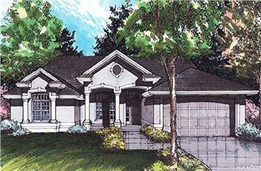 4-Bedroom, 2234 Sq Ft Concrete Block/ ICF Design House Plan - 146-2818 - Front Exterior