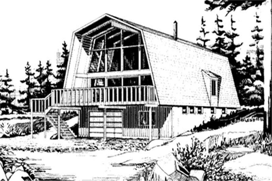 This is a front elevation of this house plan.