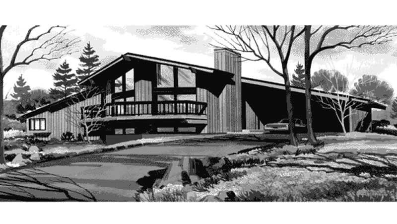 Contemporary House Plans Home Design Ls H 888 1