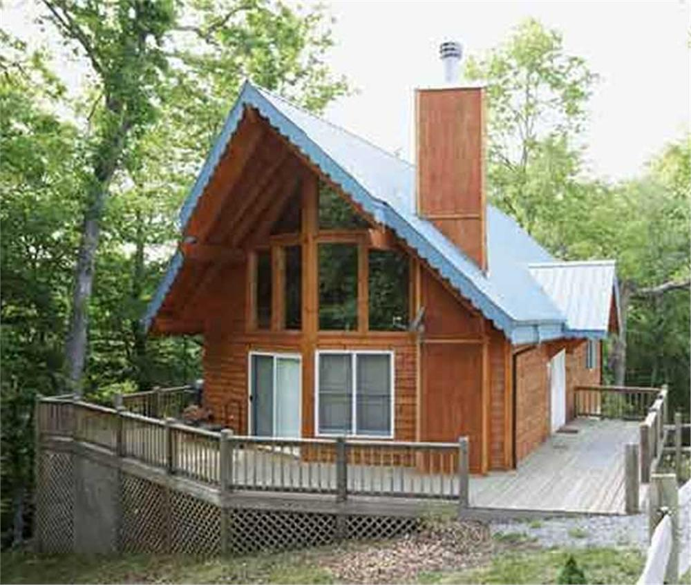 This is a colored rendering of A-Frame Home Plan # 146-2827.