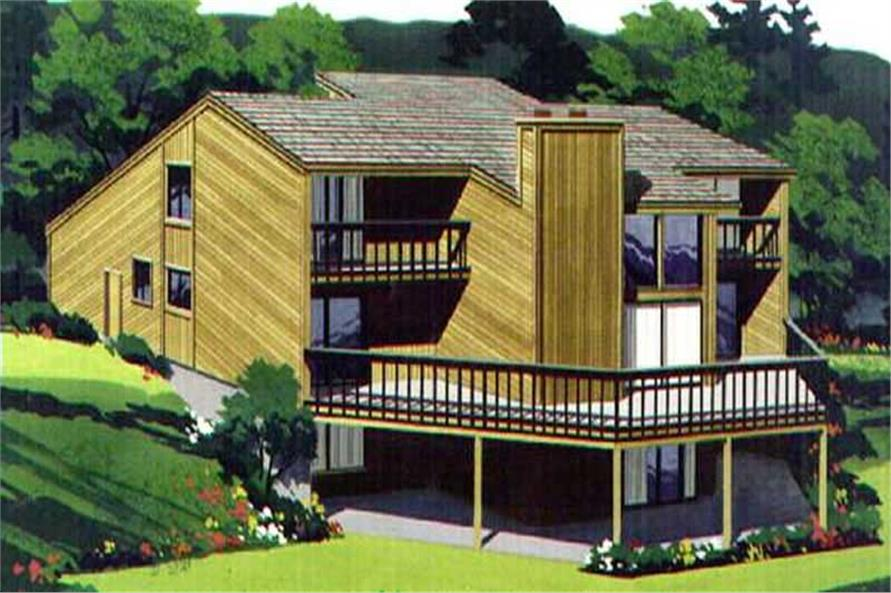 Color Rendering of house plan LS-H-914-1