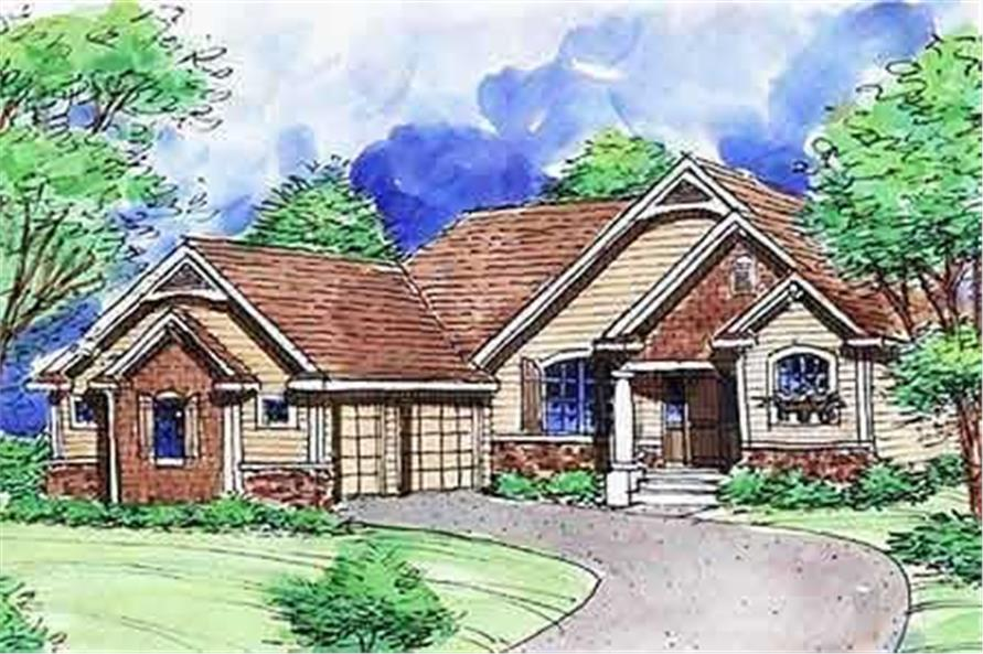 This is a colored rendering of these House Plans