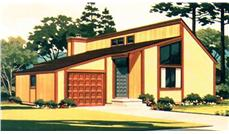 Color Rendering for house plan LS-H-917-1A