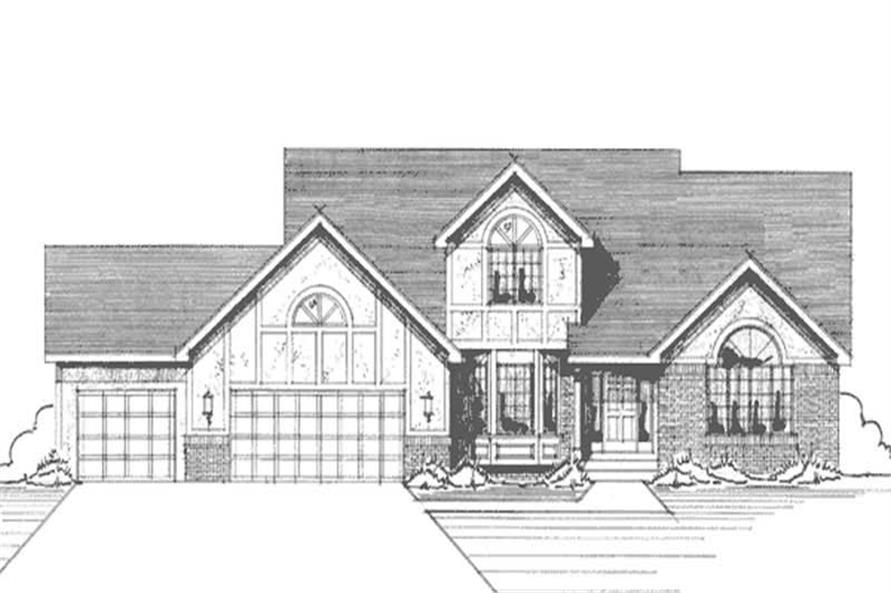 3-Bedroom, 2176 Sq Ft Tudor House Plan - 146-2846 - Front Exterior