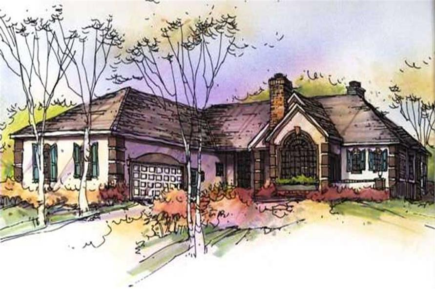 Main image for house plan # 21139