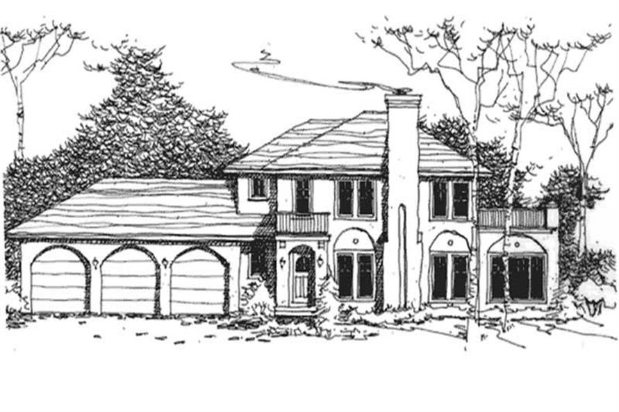 Main image for house plan # 21138