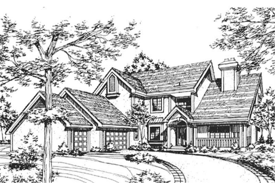 House Plans LS-B-4-85 rendering.