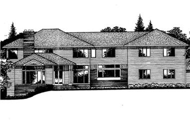 3-Bedroom, 5300 Sq Ft Colonial House Plan - 146-2864 - Front Exterior