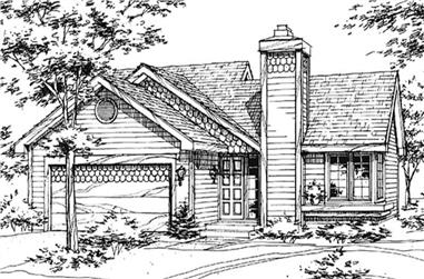 2-Bedroom, 988 Sq Ft Country Home Plan - 146-2866 - Main Exterior