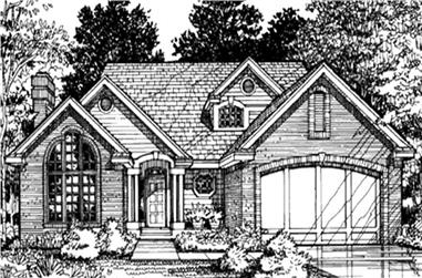 3-Bedroom, 2002 Sq Ft Cape Cod House Plan - 146-2868 - Front Exterior