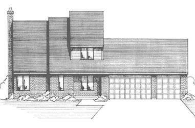 4-Bedroom, 2273 Sq Ft Modern House Plan - 146-2873 - Front Exterior