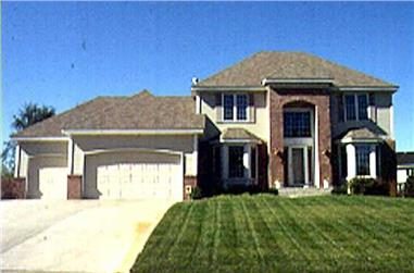 3-Bedroom, 2286 Sq Ft Colonial Home Plan - 146-2875 - Main Exterior