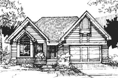 2-Bedroom, 1258 Sq Ft Country Home Plan - 146-2883 - Main Exterior