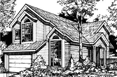 3-Bedroom, 2018 Sq Ft Country Home Plan - 146-2885 - Main Exterior