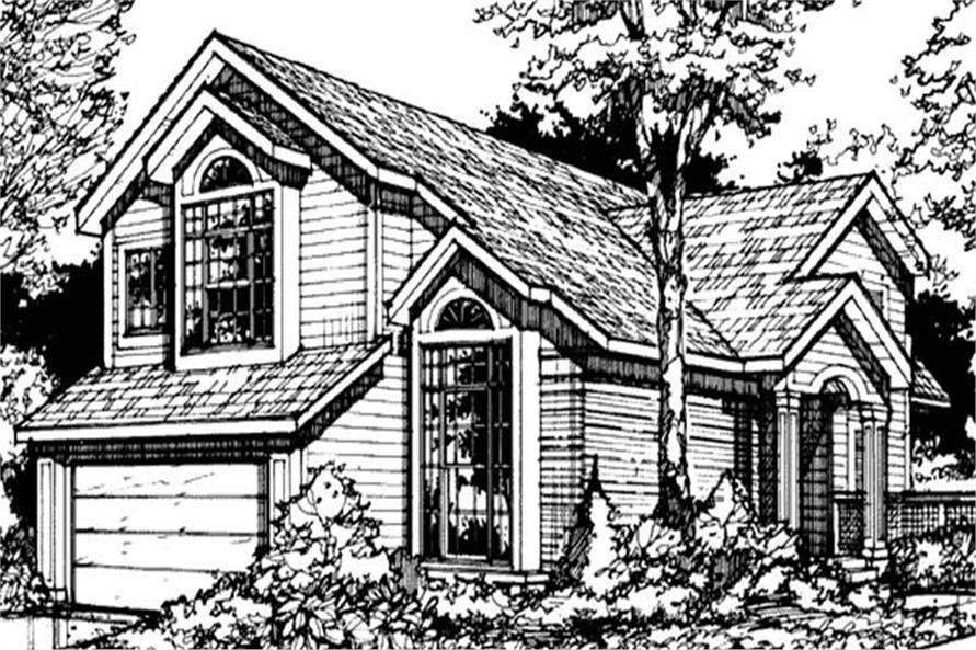 Country Home Plans LS-B-90022 front elevation image.