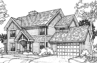 3-Bedroom, 2126 Sq Ft Country House Plan - 146-2888 - Front Exterior