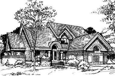 3-Bedroom, 2090 Sq Ft Ranch Home Plan - 146-2889 - Main Exterior