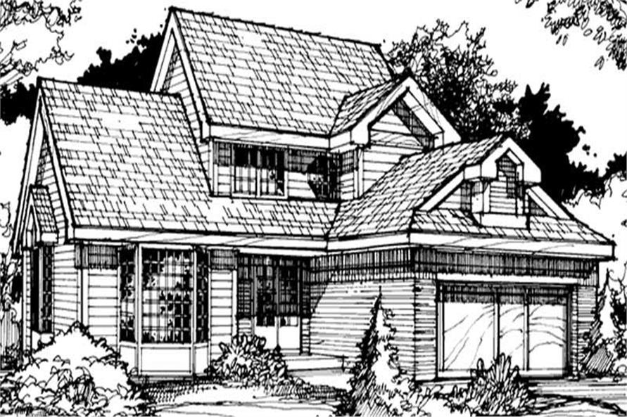 Front elevation of Country home (ThePlanCollection: House Plan #146-2892)