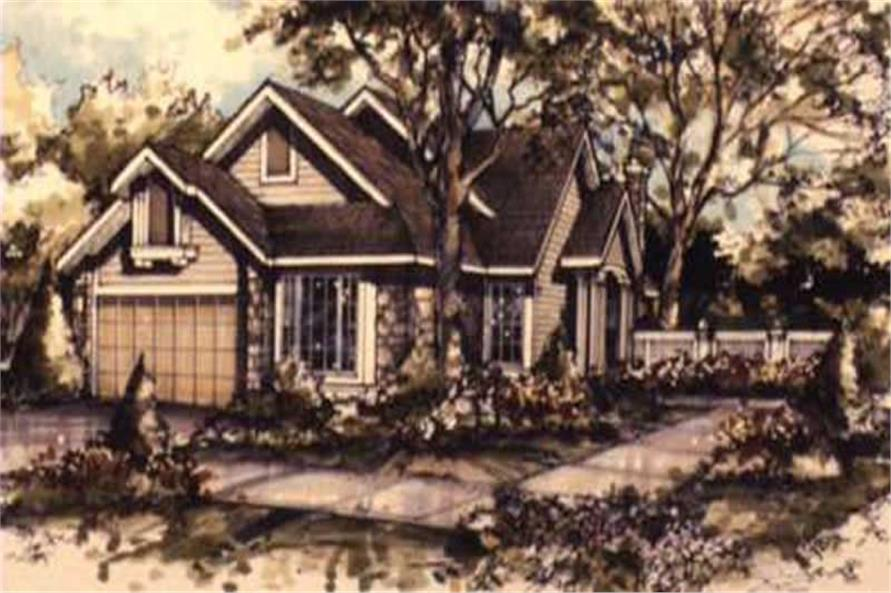 Color Rendering of Country Home Plans LS-B-89074.
