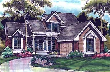 4-Bedroom, 2210 Sq Ft Cape Cod House Plan - 146-2895 - Front Exterior