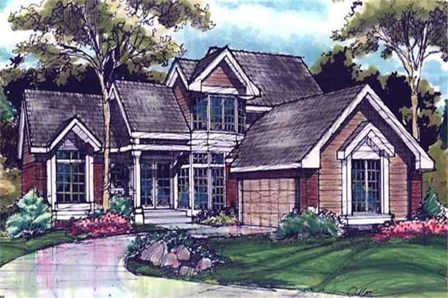 Front Elevation image for Country Homeplans LS-B-89042.