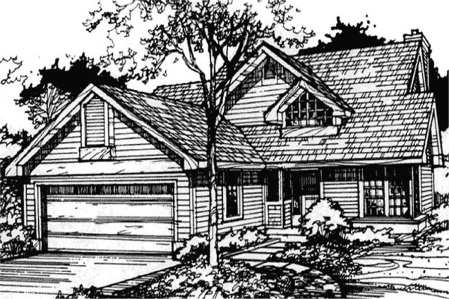 Front elevation image for Country Home Plans.