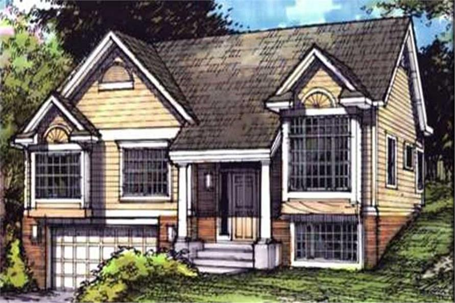 Country Houseplans LS-B-90014 front elevation.
