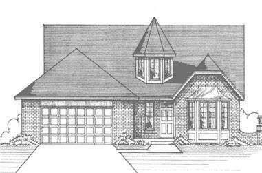 3-Bedroom, 2061 Sq Ft European House Plan - 146-2899 - Front Exterior