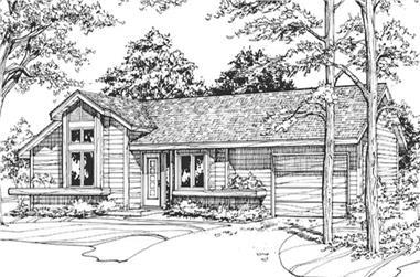 1-Bedroom, 980 Sq Ft Ranch Home Plan - 146-2900 - Main Exterior