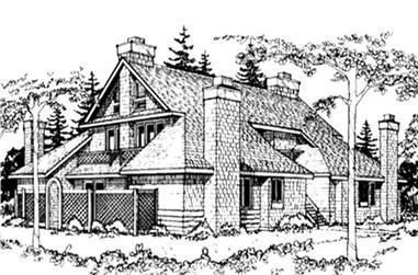 1-Bedroom, 1395 Sq Ft Multi-Unit Home Plan - 146-2904 - Main Exterior