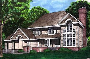 4-Bedroom, 2587 Sq Ft Country Home Plan - 146-2906 - Main Exterior