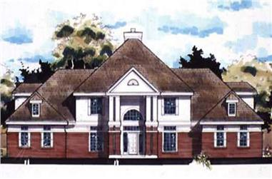 5-Bedroom, 4530 Sq Ft Cape Cod Home Plan - 146-2907 - Main Exterior