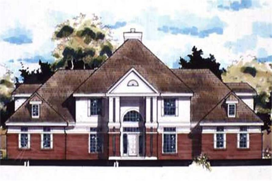European Homeplans LS-B-90006 colored front elevation.