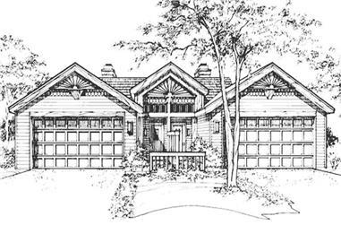1-Bedroom, 906 Sq Ft Cape Cod Home Plan - 146-2909 - Main Exterior