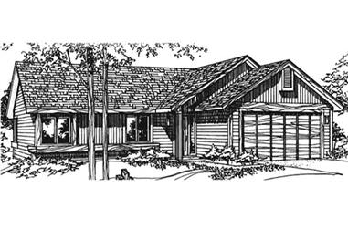 2-Bedroom, 1081 Sq Ft Country House Plan - 146-2910 - Front Exterior