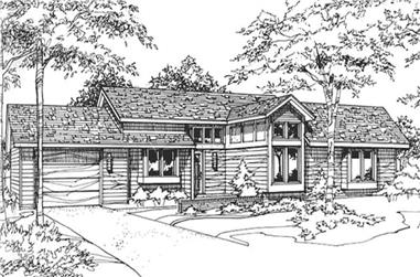 2-Bedroom, 1079 Sq Ft Country House Plan - 146-2911 - Front Exterior