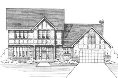 4-Bedroom, 2500 Sq Ft Country Home Plan - 146-2913 - Main Exterior