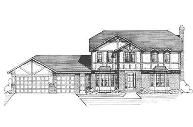 4-Bedroom, 2504 Sq Ft Colonial House Plan - 146-2914 - Front Exterior