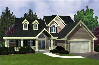 3-Bedroom, 2249 Sq Ft Country House Plan - 146-2915 - Front Exterior