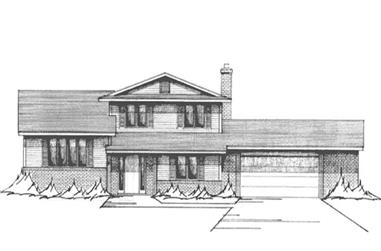 3-Bedroom, 2179 Sq Ft Modern House Plan - 146-2918 - Front Exterior