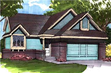 3-Bedroom, 1401 Sq Ft Country House Plan - 146-2922 - Front Exterior