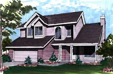 3-Bedroom, 1835 Sq Ft Country Home Plan - 146-2924 - Main Exterior