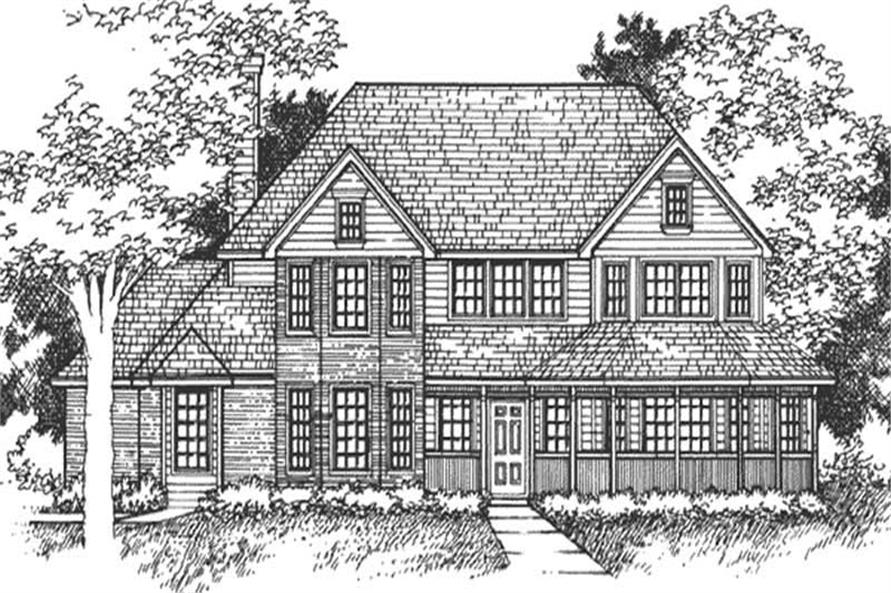 Main image for house plan # 21054