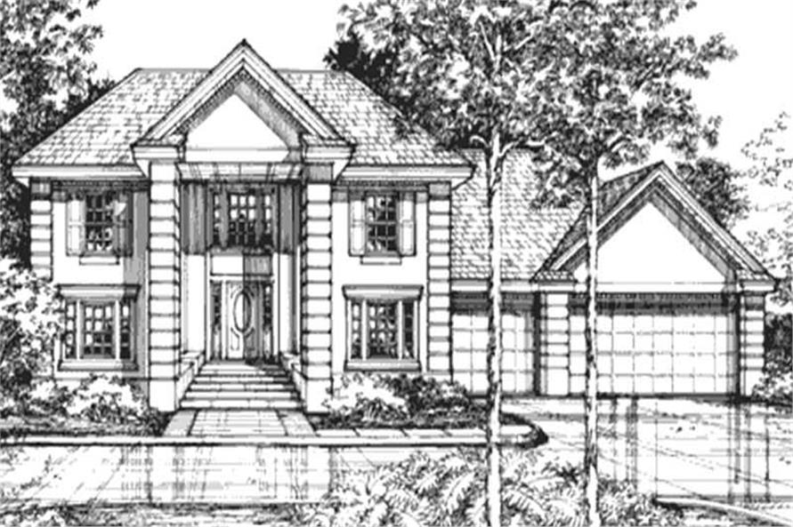 4-Bedroom, 2982 Sq Ft Colonial House Plan - 146-2926 - Front Exterior