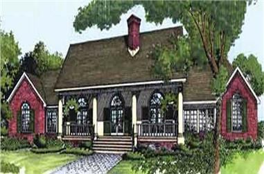 4-Bedroom, 2276 Sq Ft Colonial Home Plan - 146-2927 - Main Exterior